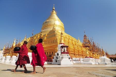 Shwezigon Paya, Bagan, Myanmar  Reklamní fotografie