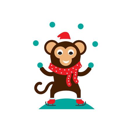 snowballs: scimmia con palle di neve