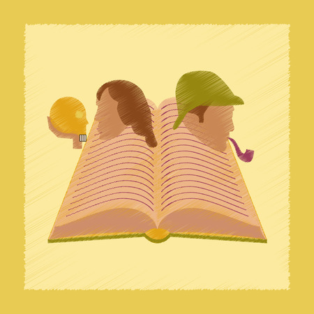 classics: flat shading style icon education book classics