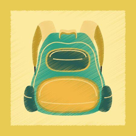 bookbag: flat shading style icon fashionable school bag