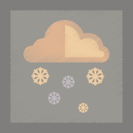 hailstone: flat shading style icon nature cloud Snow