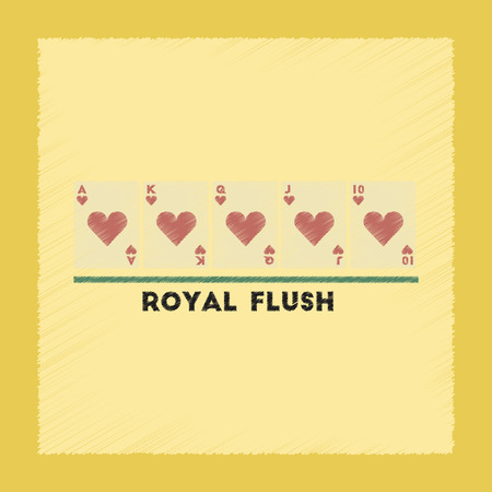 royal flush: flat shading style icon poker royal flush