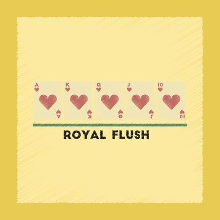 flush: flat shading style icon poker royal flush