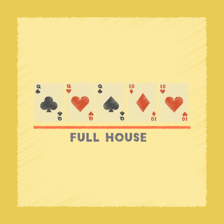 jack of hearts: flat shading style icon poker full house
