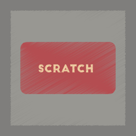 scratch card: flat shading style icon poker scratch card