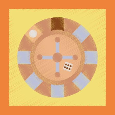casinò di roulette del poker dell'icona di stile di ombreggiatura piana Vettoriali