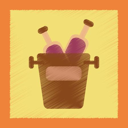 flat shading style icon poker bottle bucket