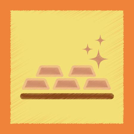 bullion: flat shading style icon poker gold bullion