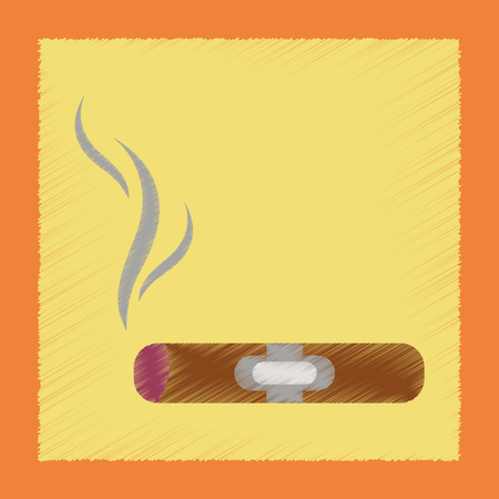 havana cigar: flat shading style icon poker cuba cigar Illustration