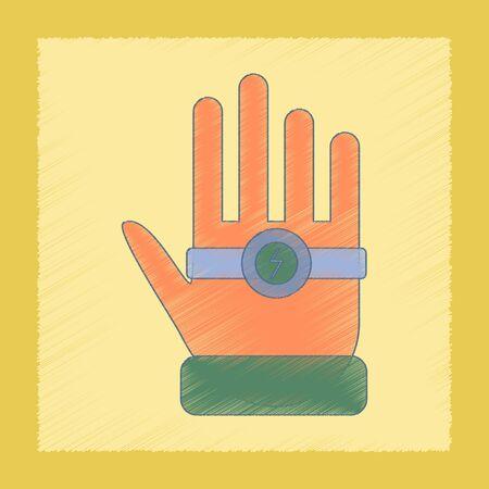 advocacy: flat shading style icon Kids toy bracelet hand