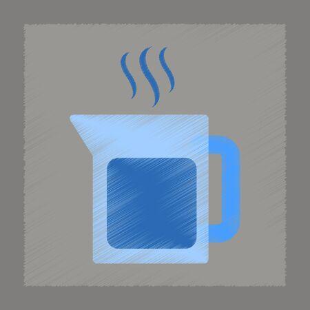 coffee machine: flat shading style icon coffee machine maker