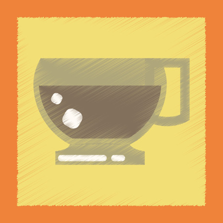 flavor: flat shading style icon coffee cup flavor