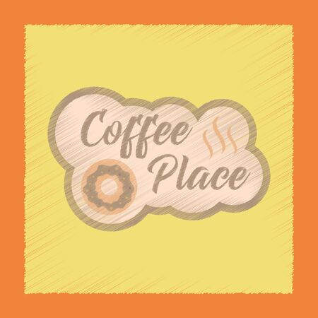 hot couple: flat shading style icon coffee drink place