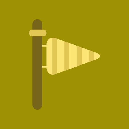 vane: flat icon on stylish background nature weather vane Illustration