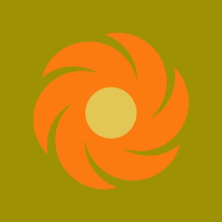 windsock: flat icon on stylish background nature weather vane Illustration