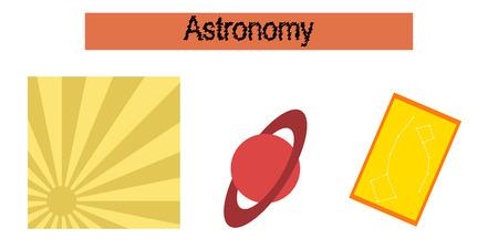 pedagogy: assembly flat icons education astronomy lesson