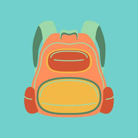 bookbag: flat icon on stylish background fashionable school bag