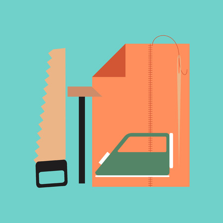 lesson: flat icon on stylish background school work lesson