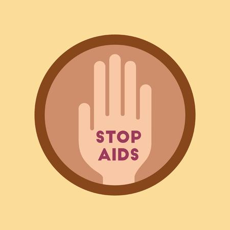 aids symbol: flat icon on stylish background gays Stop AIDS symbol