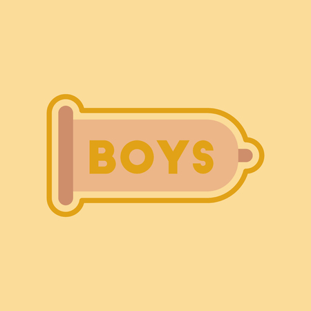 contraceptive: flat icon on stylish background gays condom contraceptive