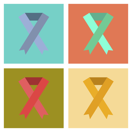 sexuality: assembly of flat icons gays HIV ribbon Illustration