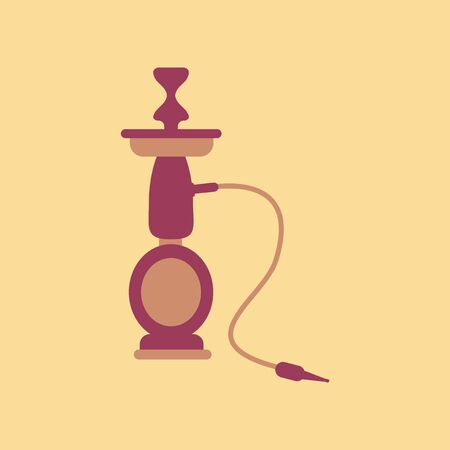turkish ethnicity: flat icon on stylish background Eastern smoke hookah