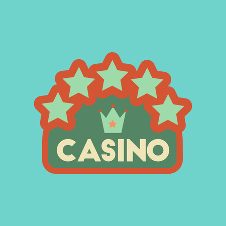 flat icon on stylish background poker casino sign