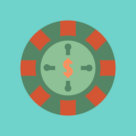 flat icon on stylish background roulette casino Illustration