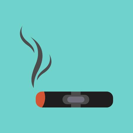 cuban cigar: flat icon on stylish background cuba cigar Illustration