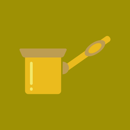 flat icon on stylish background coffee arabic Turk
