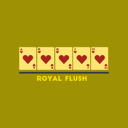 royal flush: flat icon on stylish background poker royal flush
