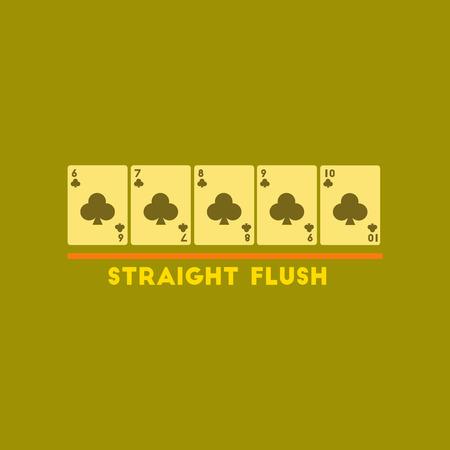 royal flush: flat icon on stylish background poker straight flush