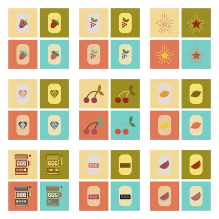 assembly of flat icons casino poker symbols