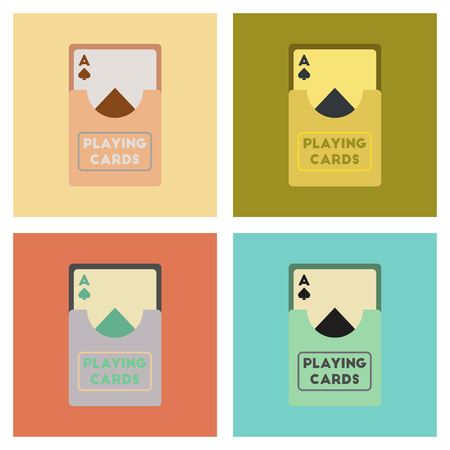 assembly of flat icons poker playing cards