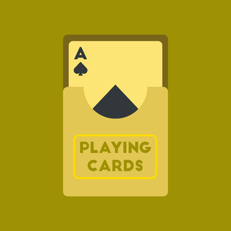 flat icon on stylish background poker playing cards