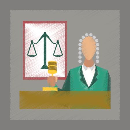 jurisdiction: flat shading style icon education jurisdiction judge