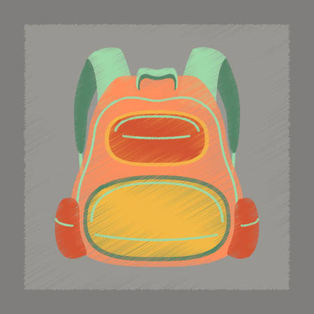 bookbag: flat shading style icon fashionable school bag