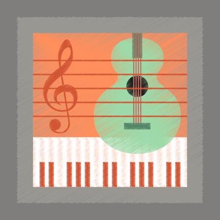 chiave di violino: piatto stile di ombreggiatura lezione di musica icona di scuola