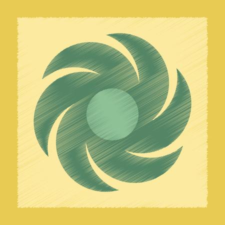 windsock: flat shading style icon nature weather vane Illustration