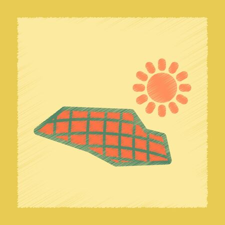 panels: flat shading style icon nature solar panels Illustration