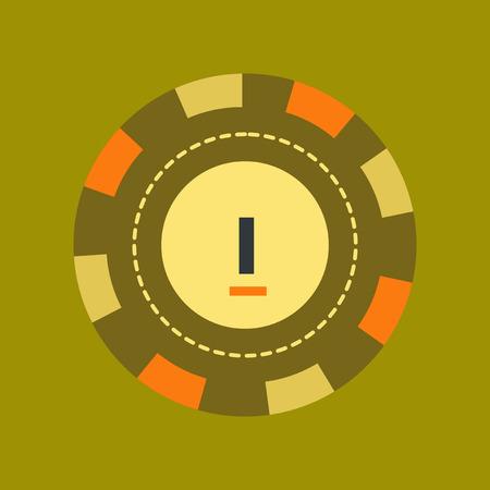 flat icon on stylish background single poker chips