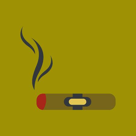 flat icon on stylish background cuba cigar Illustration