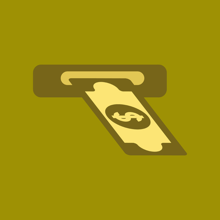 fanned: flat icon on stylish background dollar money