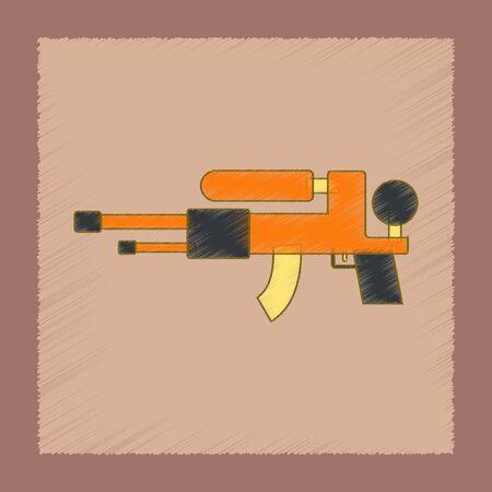water gun: flat shading style icon Kids toy water gun