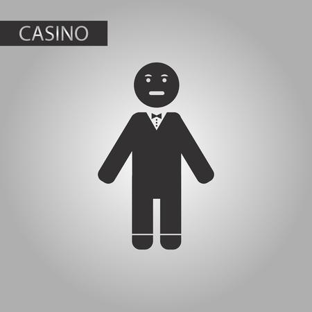 losing money: black and white style poker man player Illustration