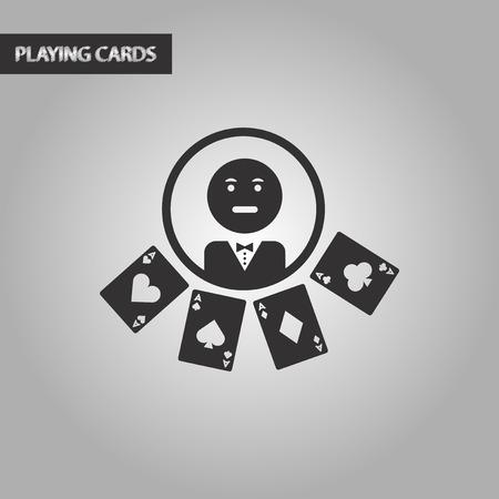 casino dealer: black and white style poker casino dealer