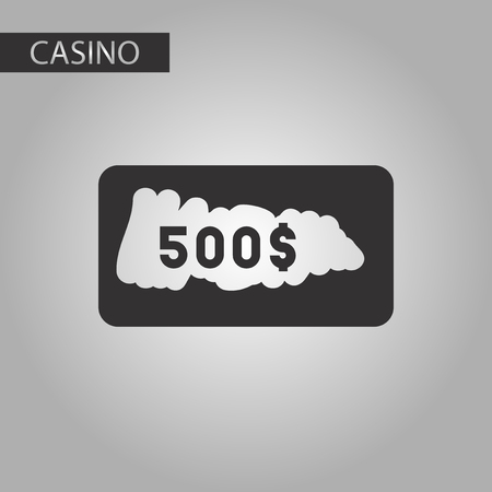 scratch card: black and white style poker scratch card Illustration
