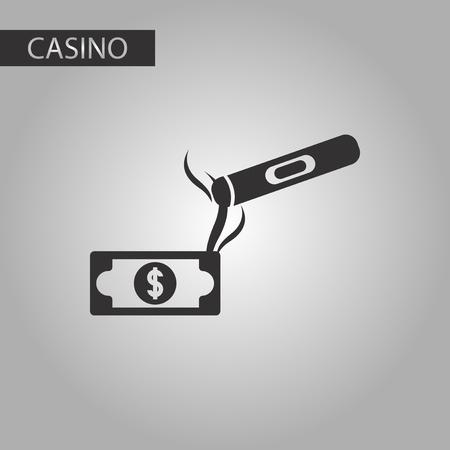 cigar: black and white style poker cigar dollar