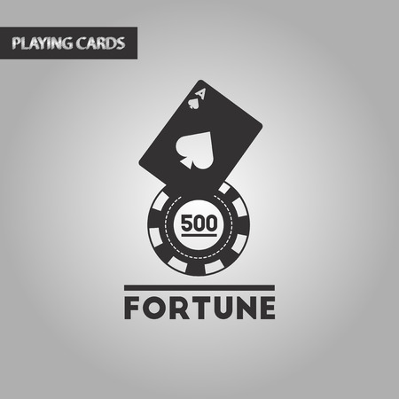 wining: black and white style poker Fortune chip card