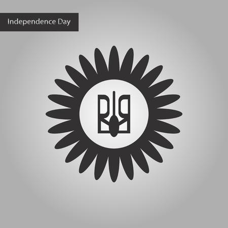 emblem of ukraine: black and white style icon emblem of Ukraine Illustration